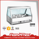 Stainless Steel 6 Pan Bain Marie Showcase Food Warmer (HBX-6A)