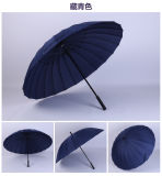 Waterproof Windproof Auto Open Personalized Printing Manul Open 24K Straight Deco Umbrella Manufacturer for Promotional