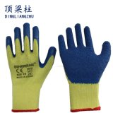 10g Polyester Palm Coated Crinkle Latex Work Gloves for Building
