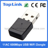 802.11AC 2.4G/5g Dual Band 600Mbps High Speed Realtek Low Cost USB WiFi Dongle for Android TV Box
