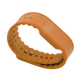 Orange Silicon RFID Entrance Wristbands with Snaps