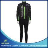 Custom Made Windproof Waterproof Breathable Cycling Suit with Jacket and Tight Trouser
