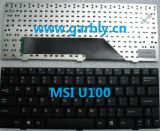 Notebook Laptop Keyboard for Msi U100 U100X U9 U90 U90X Us/Spain Keyboard