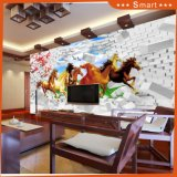 3D Running Horses Digital Printed Oil Painting for Home Decoration