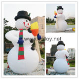 Inflatable Snowman for Christmas Decorations