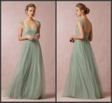 Lace Bridesmaid Party Prom Gown Green Mother Evening Dress E1314