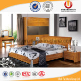 Bedroom Furniture Type Antique European Solid Wood Double Size Bed (UL-C02)