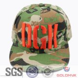 Camouflage Flat Bill Cap with Logo Embroidery (GKA15-A00006)