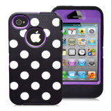 Laser Mark Polka Dots Mobile Phone Case for iPhone4 4s