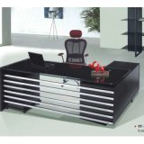 Glass Top Exeuctive Office Desk Wooden Office Furniture (NS-ND002.2)