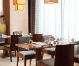 Wooden Embroidery Cloth Dining Chair and Coffee Table for Restaurant