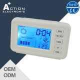 Weather Station Digital Table Clock with Blue LED Backlight