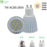 7*1W COB Dimmable GU10 LED Spot Lamp