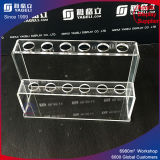 Transparent Acrylic Pen Holder with Slots, Test Tube Display Stand