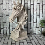 Animal Head Stone Carving (Horse)