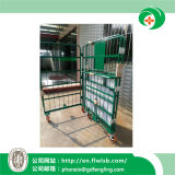 Folding Metal Cage Trolley for Warehouse Storage with Ce