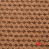 Real Wood-Grain PU Leather for Shoes or Bags
