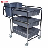 Large Detachable Plate Collection Service Trolley