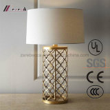 European Antique Brass Carving Table Lamp for Bedroom