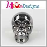 professional Factory Supply Ceramic Plated Skull Coin Bank Decor