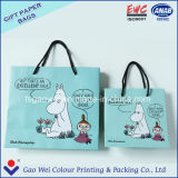 Customized Design Laminated Effect Color Kraft Paper Bag with Twisted Handle