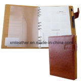 Hardcover Leather A4 Ring Binder Diary Notebook