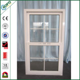 High-End PVC Single Hung Window with Double Glass Grill Inside
