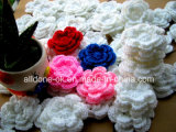 Hand Crochet Flower as Garment Accessories Motif Scrapbooking Embellishments