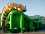 Amusement Park Inflatables Gaint Chamaleon Inflatable Slide