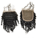 Virgin Human Hair Free Part Baby Curly Lace Closure