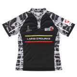 Wholesale Cheap Sublimated Striped College Rugby Jersey
