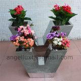 Roman Style Stainless Steel Flower Pot for Living Room for Balcony