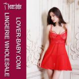 Red Exposed Babydoll L27975-2