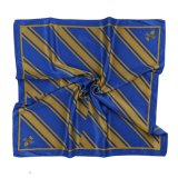 Custom Uniform Scarf Printed Silk and Polyester Formal Stripes Bespoke Logo Brand Label Satin Twill Scarf (LS-40)