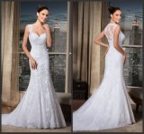 Brazil Bridal Gown Lace Tulle Sheer Back Sweetheart Mermaid Wedding Dress W1621