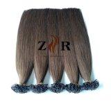 Cuticle Hair Indian Remy Hair Prebonded Keratin Flat Tip Hair Extensions