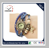 Women Ladies Leather Band Analog Butterfly Pendent Watch (DC-1373)