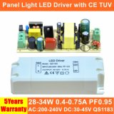 34W Hpf Isolated Panel Light LED Power Supply with Ce TUV QS1183