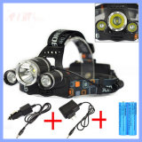 30W 5000lm 3 Xml T6 Rechargeable LED Headlamp