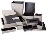 Elegant Top Quality Customized Cream Leather Square Tissue Box