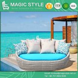 Viro Wicker Sunbed Wicker Daybed Double-Bed Garden Daybed with Cushion (Magic Style)
