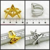 Stainless Steel High Polished Masonic Champion Ring