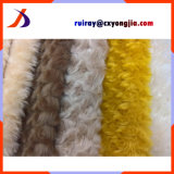 Whirlpool Style High Pile Weft Knitted Fur Brushed Flower Pattern