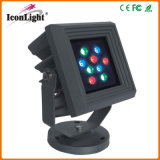 Square Flat 9*1W LED Outdoor Garden Light for Landscape Lighting
