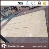Polished and Filled Beige Travertine Tiles for Flooring