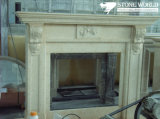 Granite/Marble Statue Fireplace Mantle/Mantels with Electric Fireplace for Indoor (SC036)