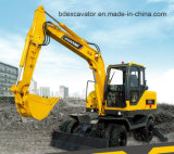 Baoding 8.5ton Wheel Excavators with Bucket for Sale
