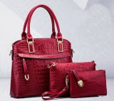 Offering Wholesale Fashion Leather Women Handbag Sets (H28)