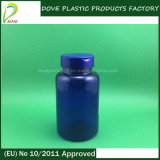 Pet Pharmaceutical Medicine Bottle 250ml Plastic Blue Bottle