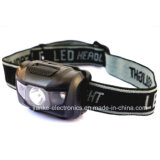 2016 Hot Seller Mini Plastic LED Headlamp with Logo Printing (4000)